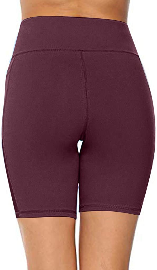 aihihe high Waist Yoga Shorts with Pockets for Women Tummy Control Stretch Workout Running Capris Yoga Pants