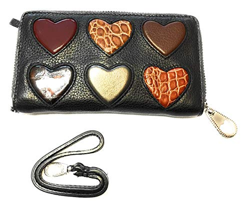 Brighton Leather Purse - Brighton Collectibles BT Tech Hearts Leather zip phone wristlet