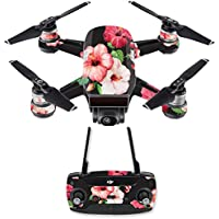 Skin for DJI Spark Mini Drone Combo - Hibiscus| MightySkins Protective, Durable, and Unique Vinyl Decal wrap cover | Easy To Apply, Remove, and Change Styles | Made in the USA