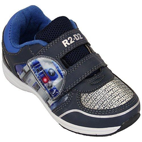 Despicable Me Jungen Turnschuhe Verächtlich Mir diener Star Wars Klettverschluss Schuhe Kinder Bello Pumps Neu - Marineblau/Blau/Silber - STASARV, UK 7/EU 25 - Toddlers