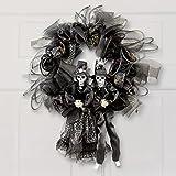 Halloween Skeleton Couple Wreath