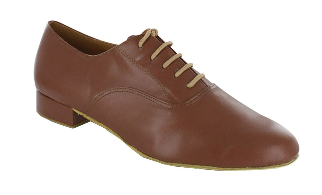 TDA Men's JF250509 Lace-up Comfort Standard Leather Ballroom Latin Dance Shoes B010RPHHHQ 13 B(M) US|Brown