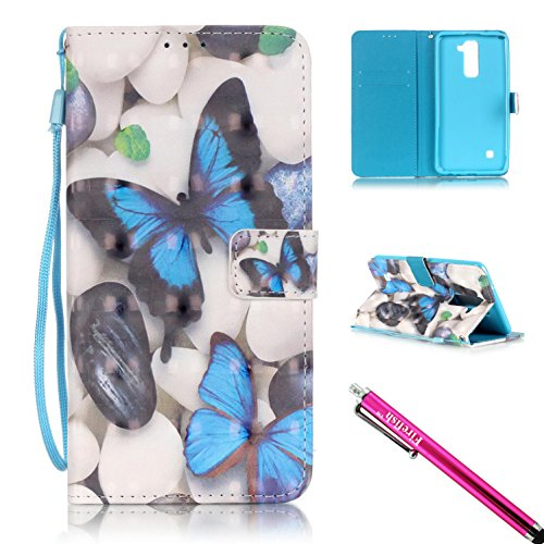 LG G Stylo 2 Case, Firefish [Kickstand] PU Leather Flip Purse Case Slim Bumper Cover with Lanyard Magnetic Skin for LG Stylus 2 / LG G Stylo 2 / LG LS775 + including One Stylus