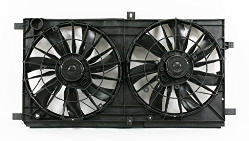 Dual Radiator and Condenser Fan Assembly - Cooling Direct For/Fit CH3115163; CH3115152 CH3115163 CH3115152 08-10 Chrysler Sebring Sedan Convertible 08-14 Dodge Avenger 07-09 Caliber 07-17 Jeep Compass