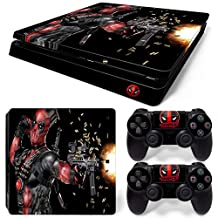 Ps4 Slim Playstation 4 Console Skin Decal Sticker Deadpool + 2 Controller Skins Set (Slim Only)