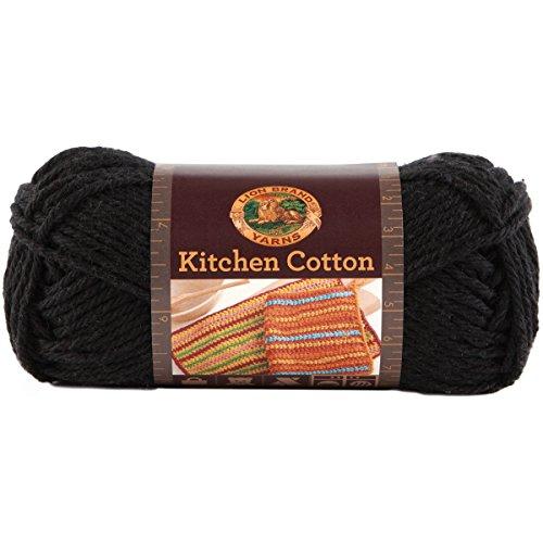 (Lion Brand Yarn 831-153 Kitchen Cotton Yarn, Licorice)