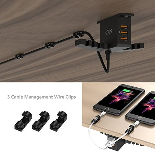 COZOO Headphone Stand with USB Charger 15