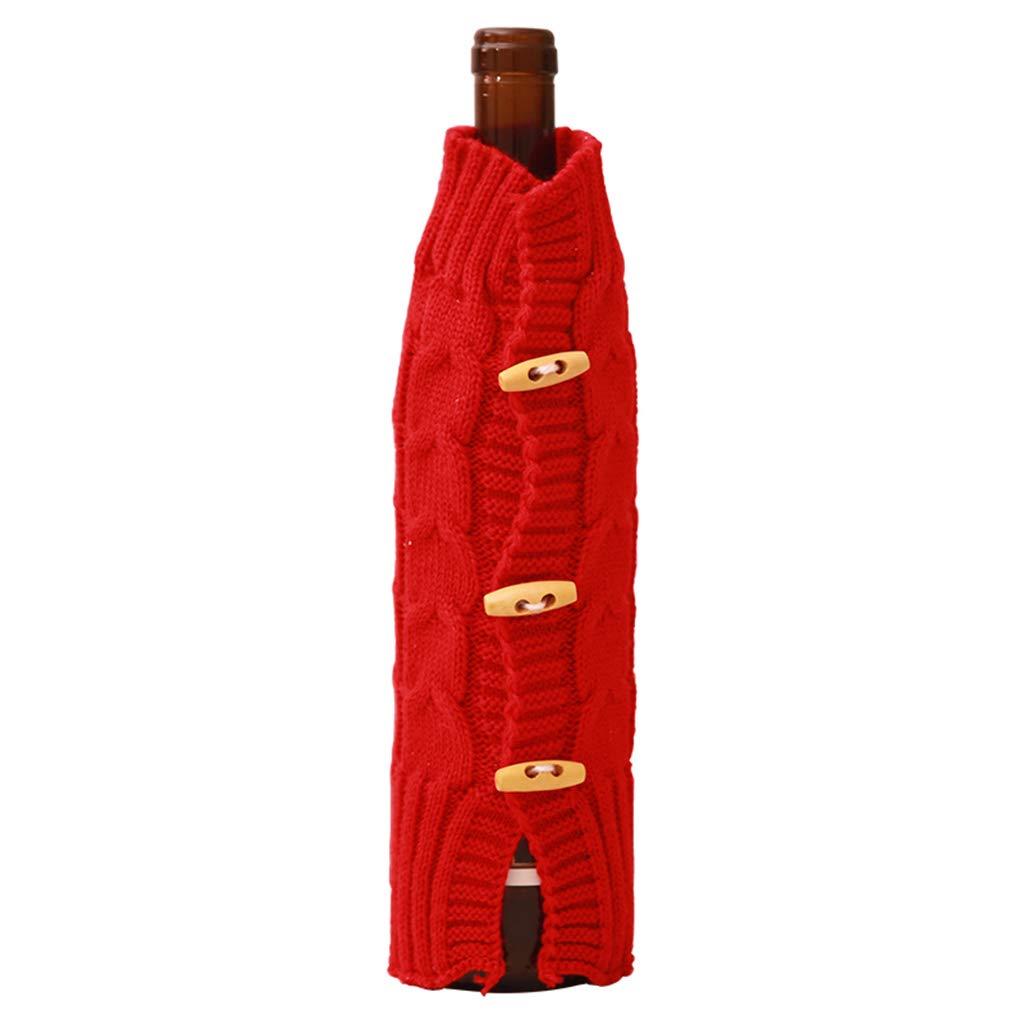 Maglia Natale birra bottiglia di vino set decorazione di Natale di Fky White