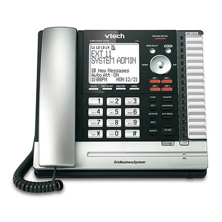 VTech UP416 Office Bundle Corded Phone System (13) UP406 Corded Extension Deskset (3) UP407 Cordless Handset by VTech (Image #1)