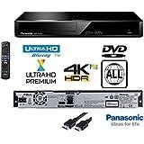 Panasonic 4K Ultra HD Blu-Ray Player With Multiregion DVD playback Model DP-UB320 / DMPUB320 - Same Family as DMP-UB300 / DMP-UB700 / DMP-UB900 / DMP-UB400- INCLUDES FLAT HDMI LEAD - Black