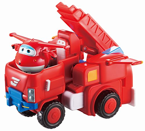 Jett Set - Super Wings - Robo Rig | Toy Vehicle Set |, Includes Transform-a-Bot Jett Figure | 2