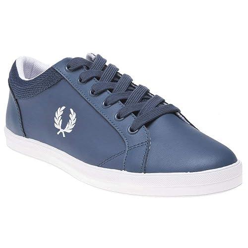 Fred Perry Baseline Hombre Zapatillas Azul: Amazon.es: Zapatos y complementos