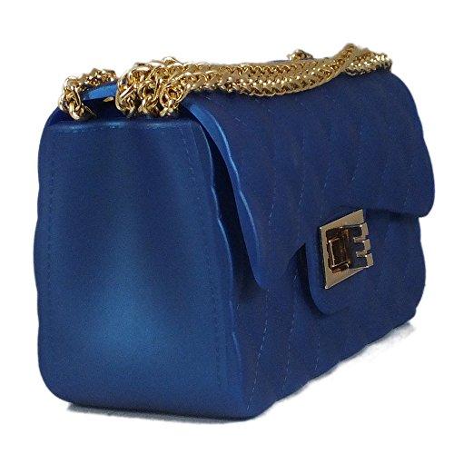 Borsa tracolla blue BAG IS quadri trapuntata O5wgzHq