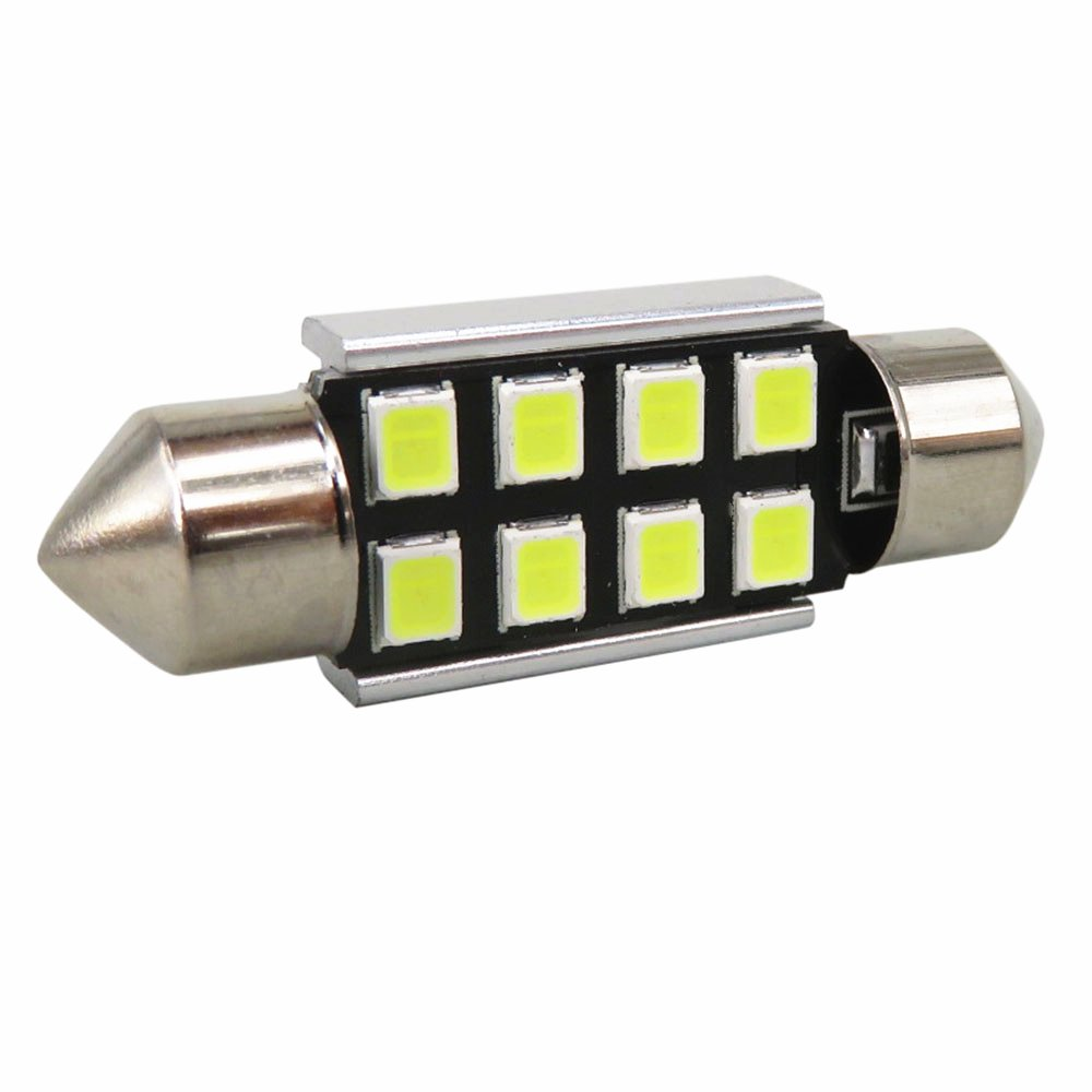 WLJH 10 pcs 36mm Festoon LED Int/érieur de la Voiture Plaque Dimmatriculation D/ôme Ampoules 2835SMD Chipsets Canbus Sans Erreur 3021 DE3021 6418 DE3425 Bleu Glac/é