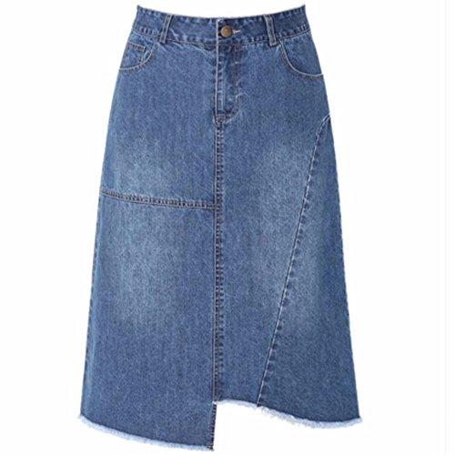QPSSP Taille Haute, La Hanche Denim, Jupe Longue, Une Robe, Jupe, Jupe, La Robe. Blue