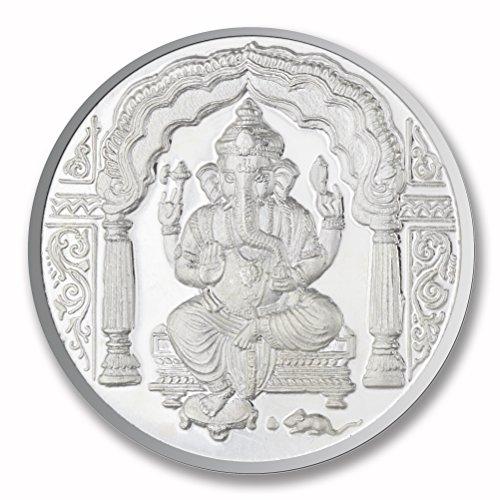 P.N.Gadgil Jewellers 999 Silver 50 gms Ganesha Om Silver Coin