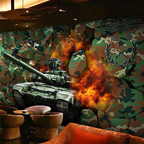 AQSGH Camuflaje graffiti ejército militar wallpaper bar KTV tema sala de ocio bar Internet cafe wallpaper 3D sólido mural, arte de la moda de franela (costura): Amazon.es: Bricolaje y herramientas