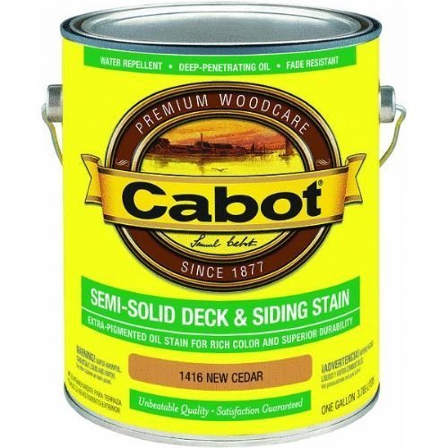 Cabot 1416 Semi-Solid Deck and Siding Stain, 1 gal, New - Semi Solid Deck