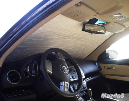 Mazda 6 Sport Wagon (MAZDA 6 Year(s) 2009 2010 2011 2012 2013 Sedan & Sport Wagon HEATSHIELD Windshield Custom-fit Sunshade #1158)