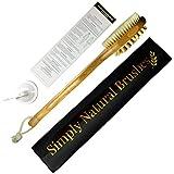 Premium 2 in 1 Bamboo Bath Body Brush for Wet / Dry Brushing. 16