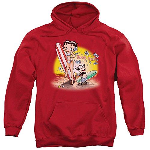 Betty Boop Cartoon Boop Surf Adult Pull-Over ()