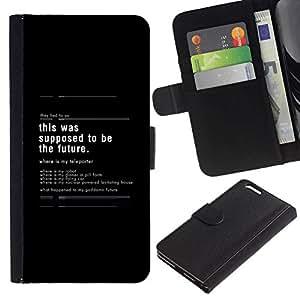 NEECELL GIFT forCITY // Billetera de cuero Caso Cubierta de protección Carcasa / Leather Wallet Case for Apple Iphone 6 PLUS 5.5 // Esto se supone que ser el futuro