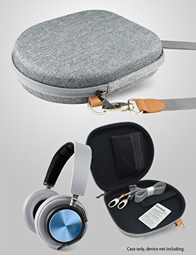 Parrot Zik 1.0, 2.0, 3 Headphones Travel Case also for Harman Kardon CL Precision, BeoPlay H2, H6, H8, Bose QC35, QC25, QC3, QC2, QC15, AE2w, AE2i, AE2, SoundTrue, Accessories Pouch (Grey)