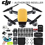 DJI Spark Portable Mini Drone Quadcopter Fly More Combo Palm Landing Pad Bundle (Sunrise Yellow)