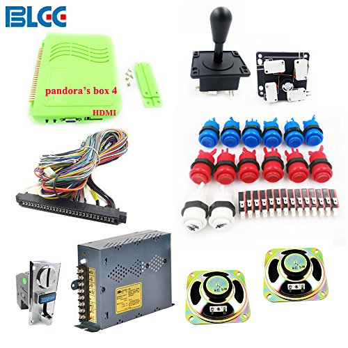 BLEE 645 in 1 Multi Arcade Games Kit Pandora's Box 4 HDMI Output Games Board Power Supply Arcade Joystick Push Button and Coin Acceptor Jamma Harness by BLEE