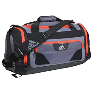 adidas Strength Duffel Bag, Lead/Light Scarlet, One Size Fits All