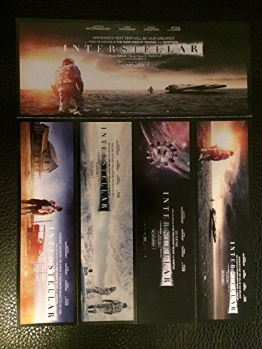 (SET OF 4 INTERSTELLAR BOOKMARKS Original Promo Item Movie 2014 Christopher Nolan)