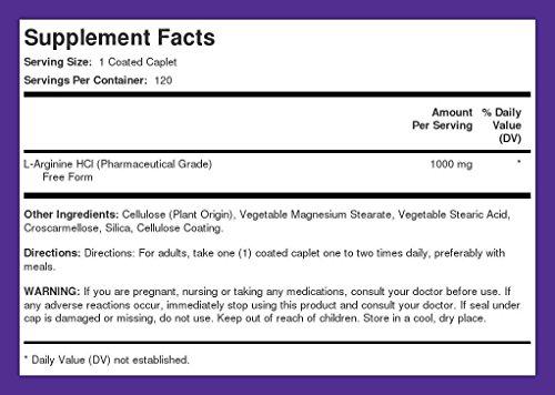 Mega Strength L Arginine HCL 1000 mg (Pharmaceutical Grade)