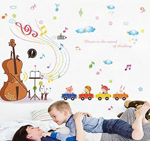 BIBITIME Violin Concert Rainbow Musical Notes Animal Pig Rab