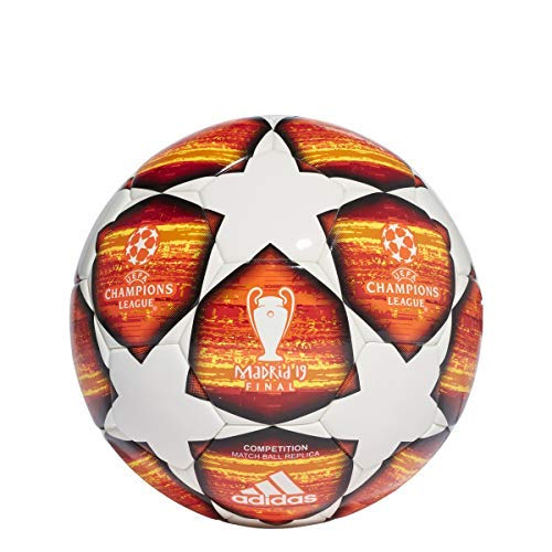 (adidas Finale Competition Soccer Ball White/Active Red/Scarlet/Solar Red Bottom: Bright Orange/Solar Gold/Black, 4)