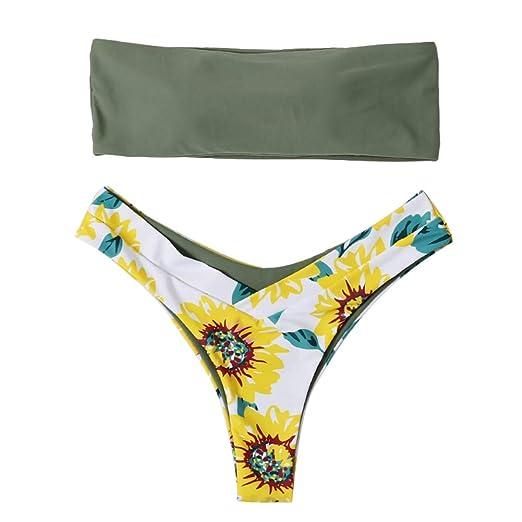 memorytime Bikini para Mujer, Girasol, Coco, sin Tirantes, Bikinis ...