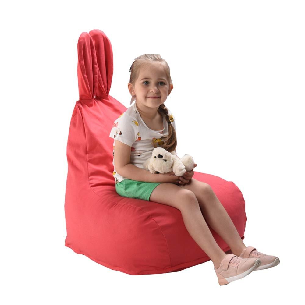 YJchairs Sitzsack - Kinder Gaming Stuhl Tierohr Faules Sofa der Kinder (Farbe   Stripe) rot