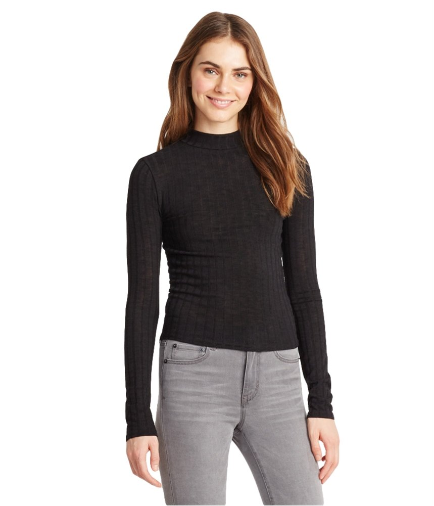 Aeropostale Womens Ribbed LS Pullover Sweater 001 XS