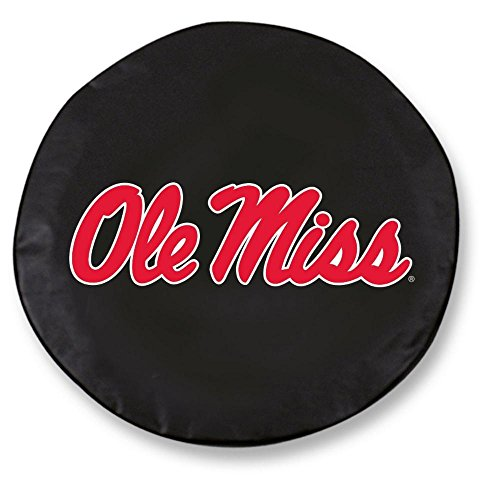 Holland Bar Stool TCYMssppUBK-32 1/4 x 12 Ole Miss Tire Cover-Black