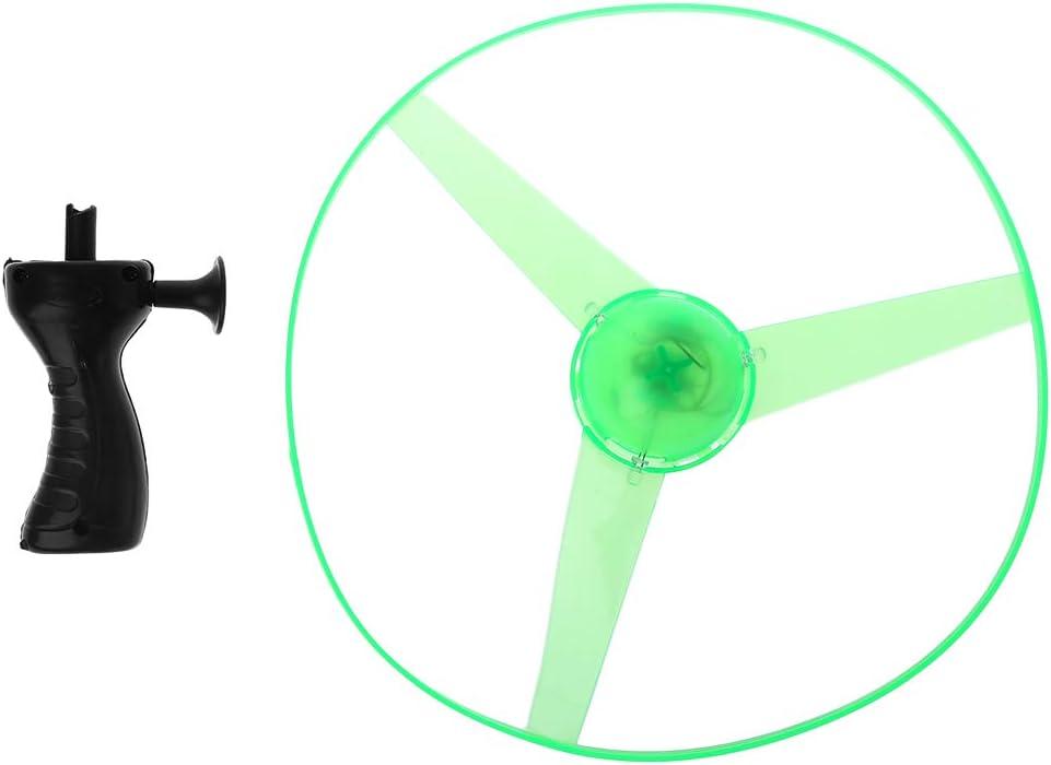 Gwxevce Clignotant en Plastique cha/îne de Traction Soucoupe Volante h/élice Jouet Disque h/élicopt/ère Nouvelle Livraison al/éatoire