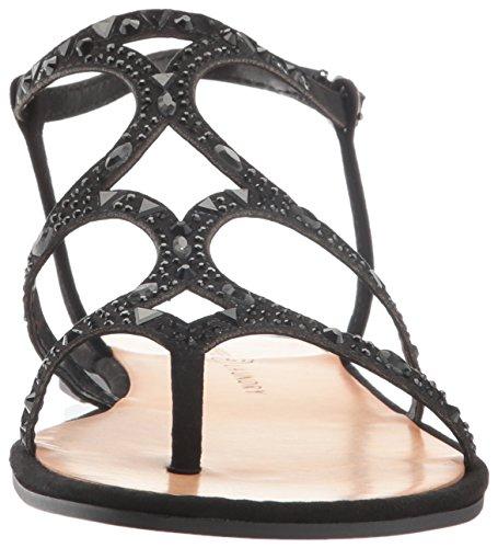 Sandalias negras ante Genevieve chinas de vestir Sandalias de qvavO