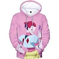 OLIPHEE Mens 3D Anime Cartoon Hunter x Hunter Cosplay Hoodie Leorio Kurapika Gon Hisoka Pullover Hoodie Streetswear