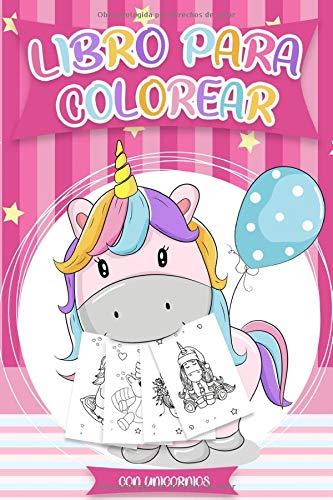 Libro para colorear con Unicornios: Libros colorear niños  - Más de 30 diseños hermosos de Unicornios para Colorear y Divertirse | Plantilla de Unicornio para Colorear por Diverticolori