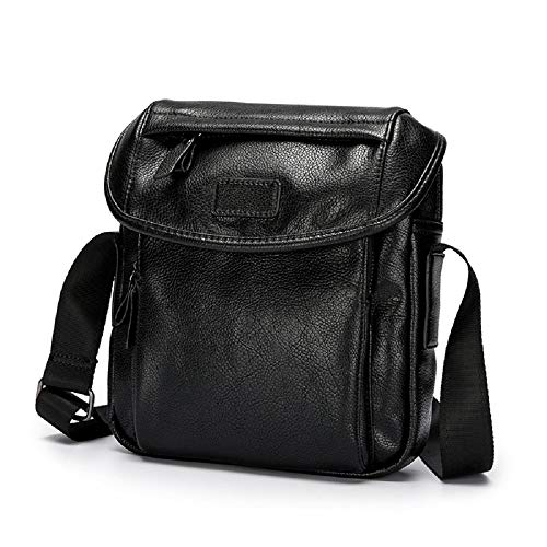 Women Unisex Men's And Leather For Small Shoulder Crossbody Men Bag Black Zhrui Handbags qOnPx1nw