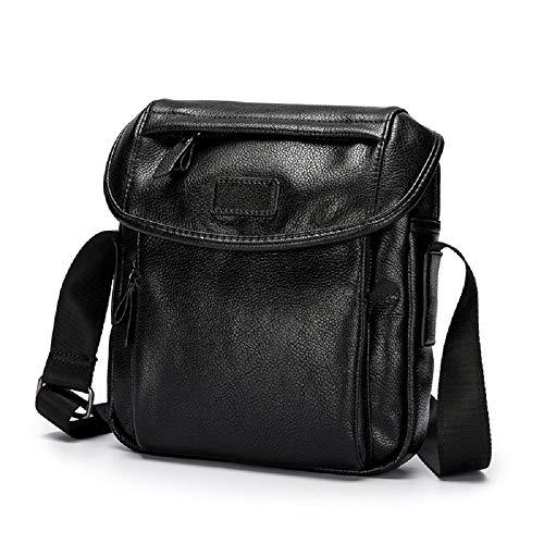 For Small Unisex Crossbody Zhrui Women Men Black Shoulder Bag Leather Men's And Handbags wzwXURq