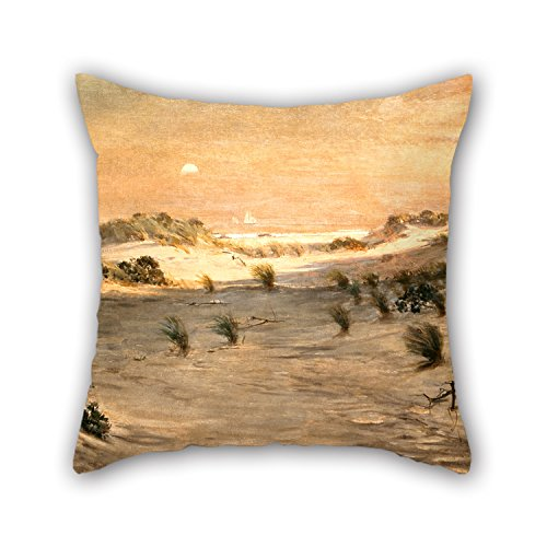Throw Pillow Case 20 X 20 Inches / 50 By 50 Cm(both Sides) Nice Choice For Dinning Room,bar,living Room,kids,bar,birthday Oil Painting Henry Ossawa Tanner - Sand Dunes At Sunset, Atlantic City - Tanner Living Room