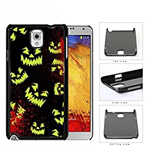 Halloween Scary Face Glow And Blood Splatter Hard Plastic Snap On Cell Phone Case Samsung Galaxy Note 3 III N9000 N9002 N9005