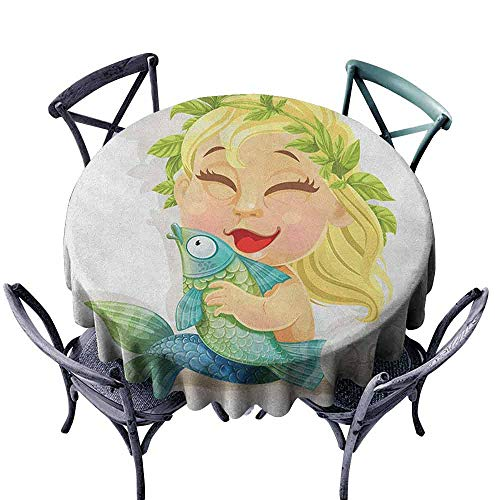 - G Idle Sky Astrology Fabric Dust-Proof Table Cover Baby Pisces Symbol Holding Fish Horoscope Collection Venus Little Mermaid Boho Indoor Outdoor Camping Picnic D43 Multicolor