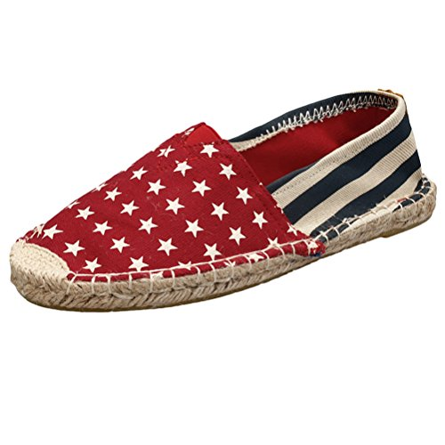 Mordenmiss Womens New Shoes Printed Slip On Canvas Platte Ch06