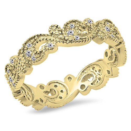 Diamond Vintage Style Ring - 5
