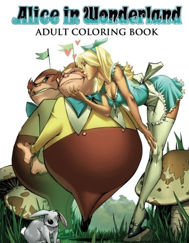Alice in Wonderland Adult Coloring Book -
